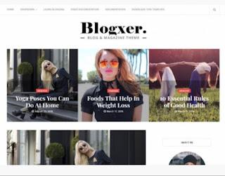 Blogxer Blogger template