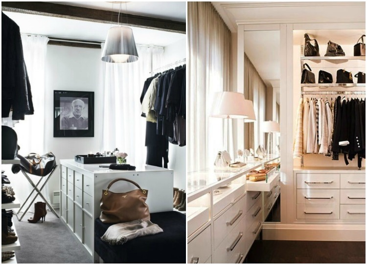 Organized Black And White Closets