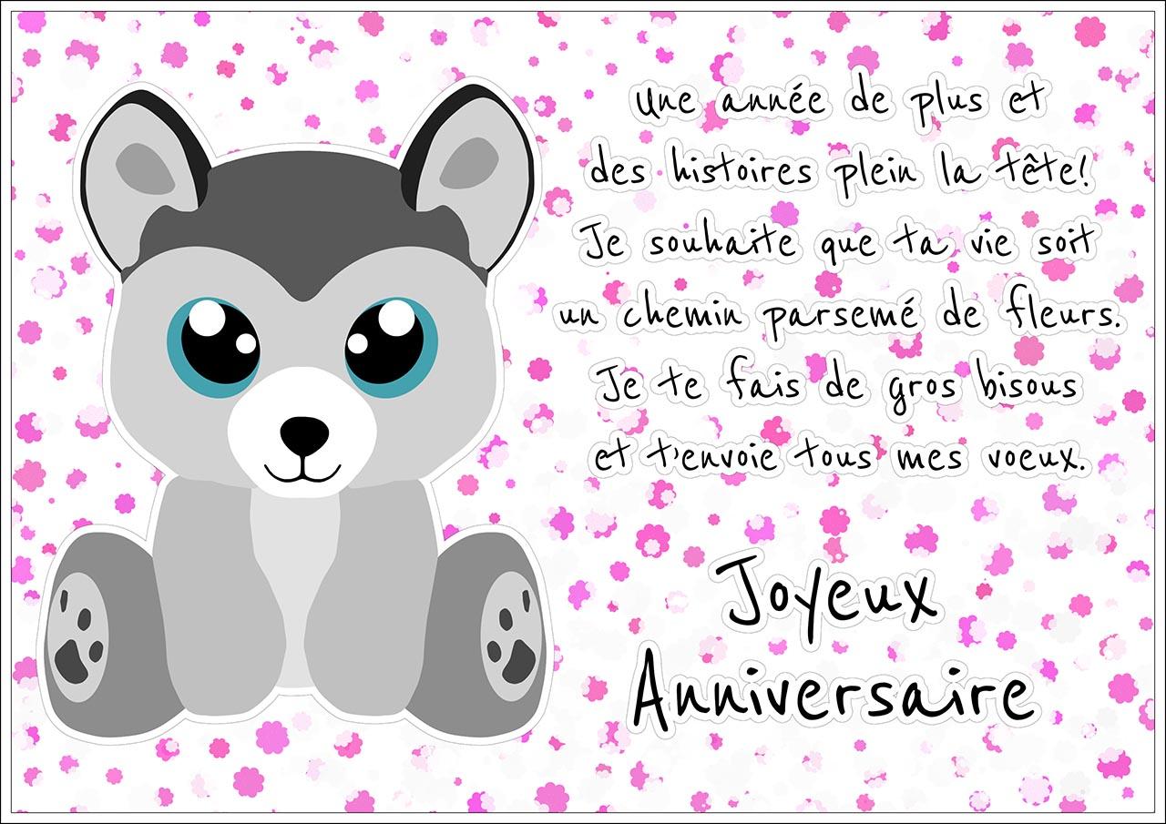 message anniversaire mignon