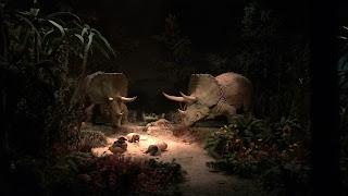 Triceratops Primeval World Diorama Disneyland Railroad