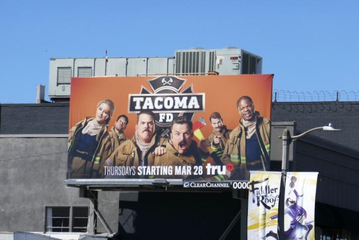Tacoma FD series launch billboard