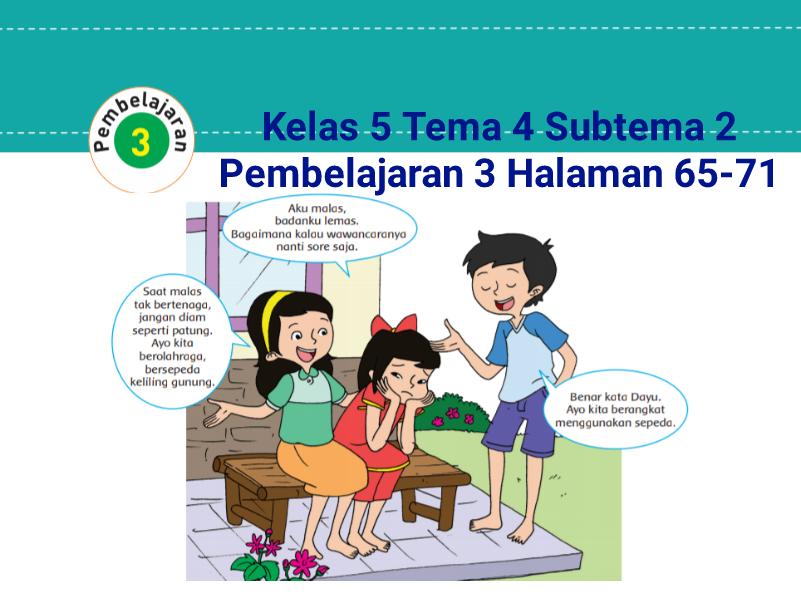 Kunci Jawaban Buku Tematik Tema 4 Kelas 5 Halaman 65 67 68 69 71 Koesrow