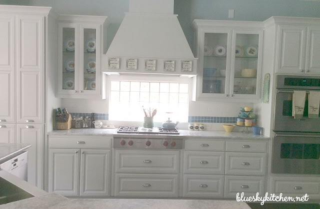 Bluesky kitchen, kitchen tour, light and bright kitchen, white kitchen, coastal kitchen, farmhouse kitchen