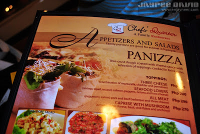 Chefs Quarter, SM Megamall, Italian cuisine, Fine dining, Mandaluyong, Pinoy Restaurants, Panizza, Paella
