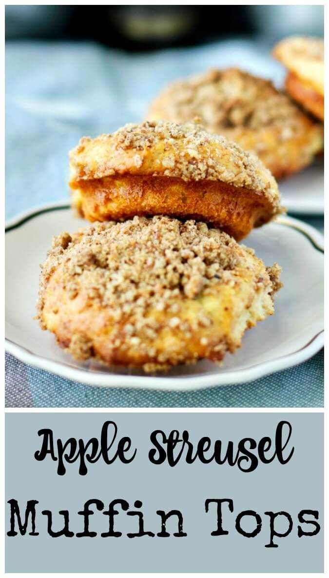 Apple and pecan streusel muffins