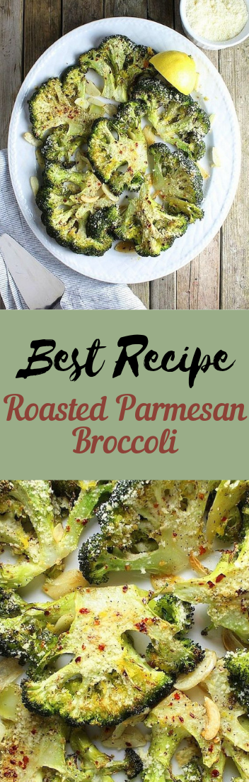 Roasted Parmesan Broccoli #vegan #recipevegetarian