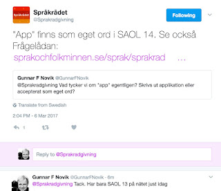 Språkrådet svarar på Twitter