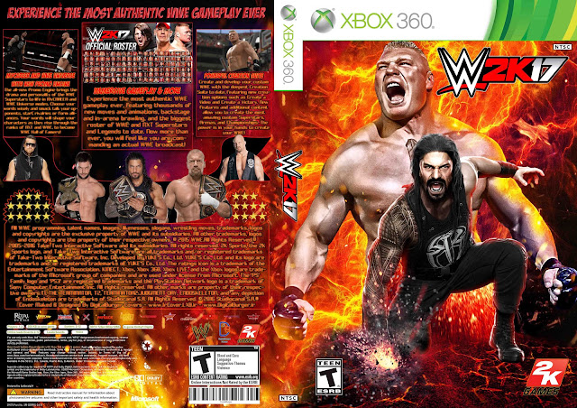 Capa WWE 2k17 Xbox 360