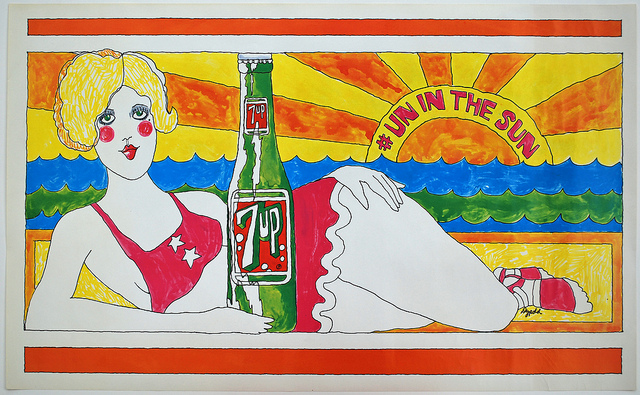 7UP Vintage Billboard Posters From The 1960s And 1970s