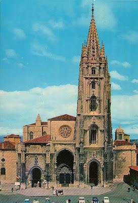 catedral, Alarde, postal, Oviedo