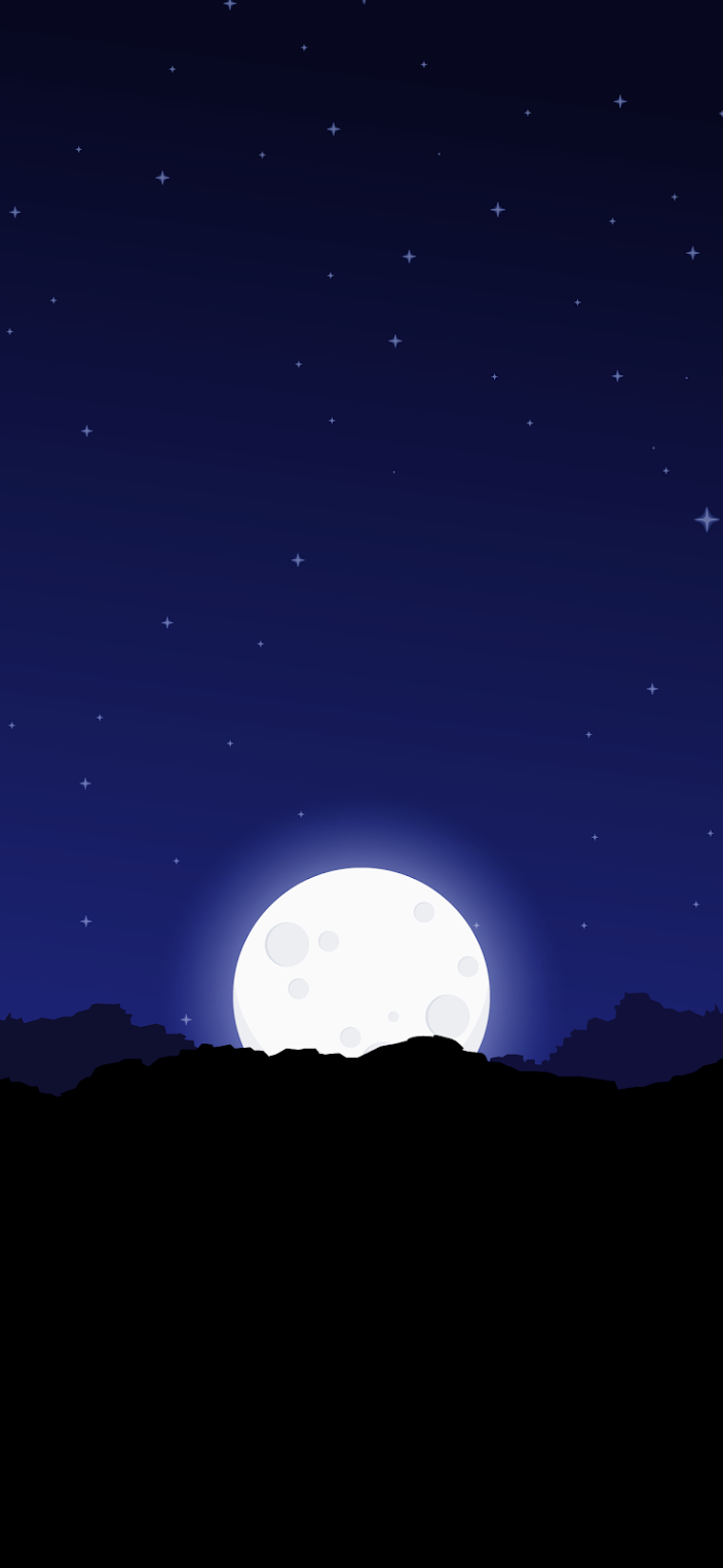 moon night minimalism background clean wallpaper for phone