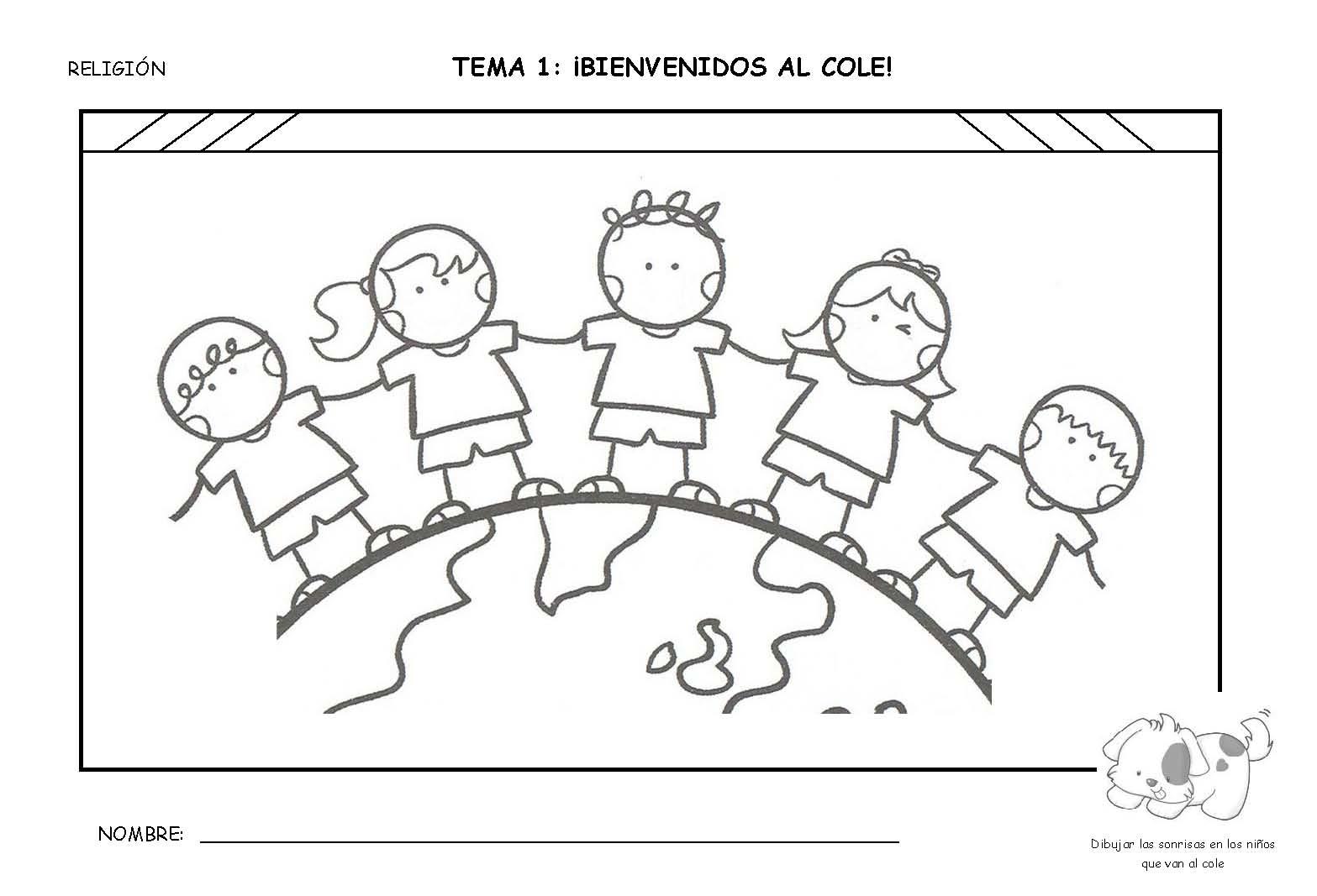 Dorable Bienvenido Colorear Imágenes - Dibujos Para Colorear En ...