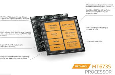 Processor Mediatek MT6735 yang digunakan dalam Advan G1