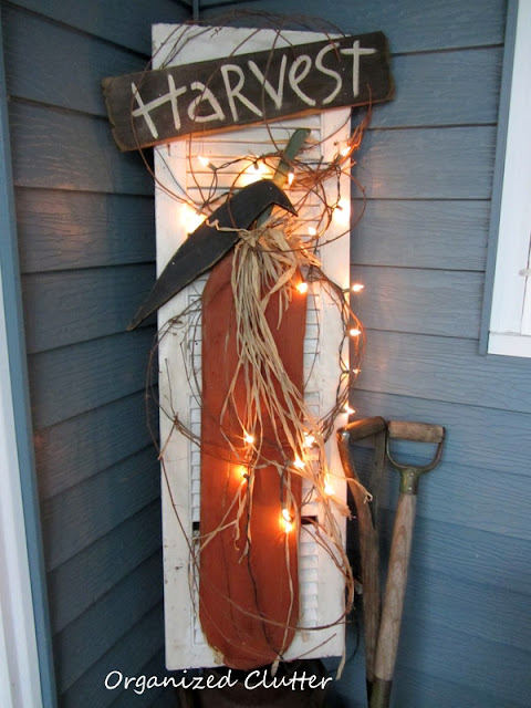 Rustic Fall Shutter Decor
