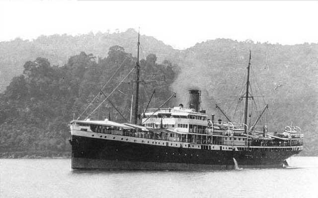 Dutch freighter Sloet van de Beele, sunk on 17 February 1942 worldwartwo.filminspector.com