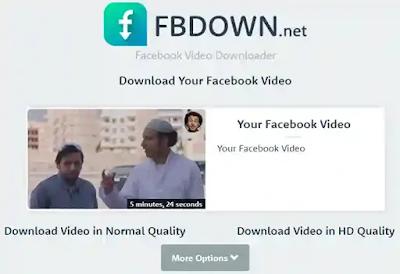موقع fbdown - تنزيل فيديوهات من الفيس