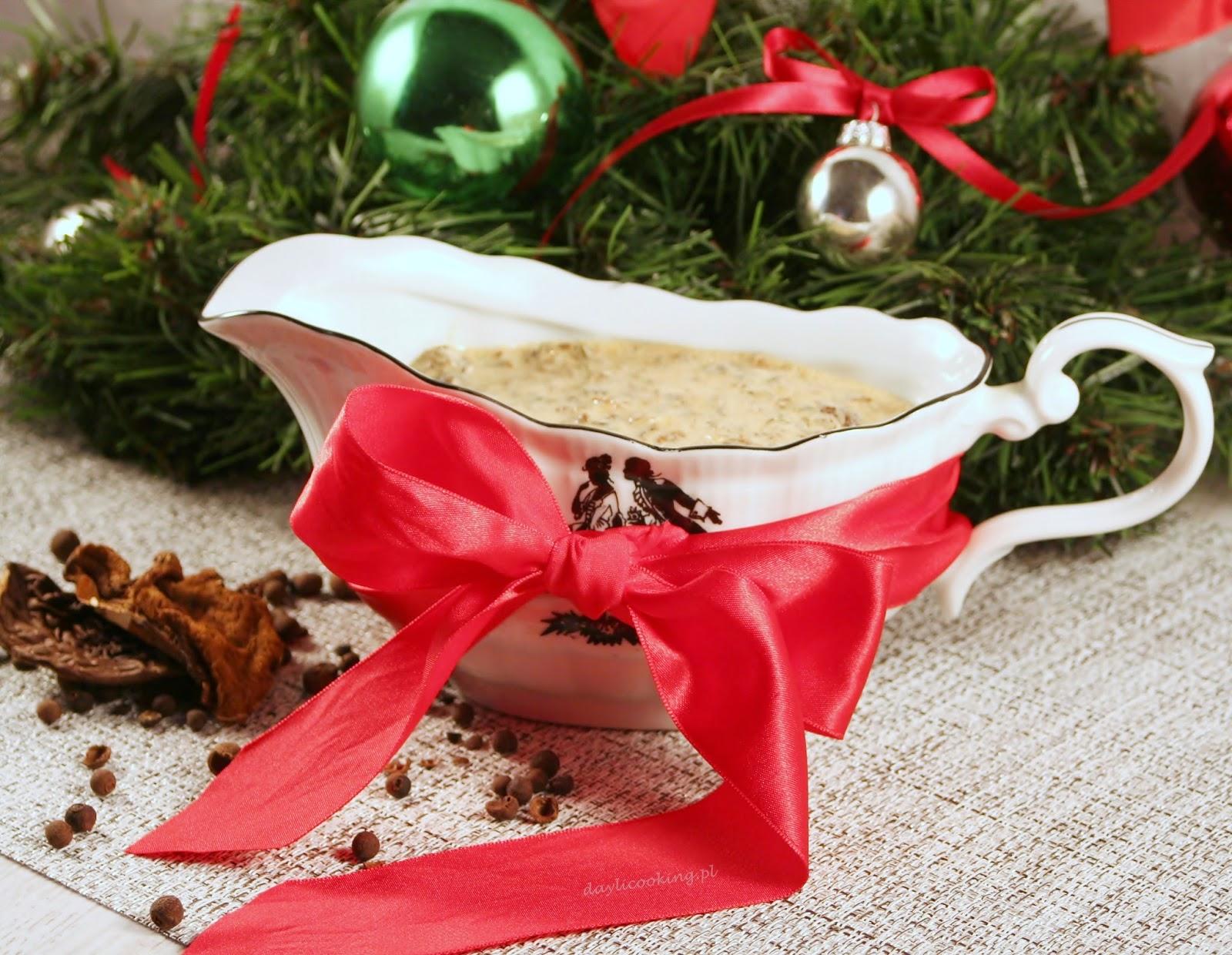 Boże Narodzenie, przepis na sos grzybowy, jak zrobić sos z grzybów na święta