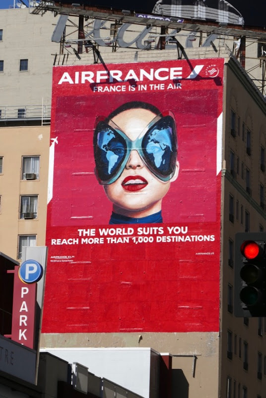 Air France world suits you wall mural ad