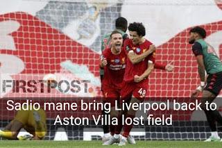 Liverpool Aston Villa's 2020