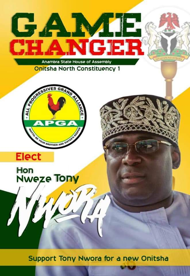 LOCAL GOVERNMENT DECLARATION BY THE GAME CHANGER FOR ANAMBRA ASSEMBLY ONITSHA NORTH I, HON. NWAEZE TONY NWORA