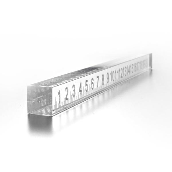 METAPHYS メタフィス カスミ 44150 ペーパーウェイト Paperweight Ruler ペーパーウェイト 定規 ムラタ チアキ 霞 ガラス製 硝子 ルーラー 数字 文具 ステーショナリー デスク 卓上 洗練 オブジェ 文鎮 定規 スケール 重り