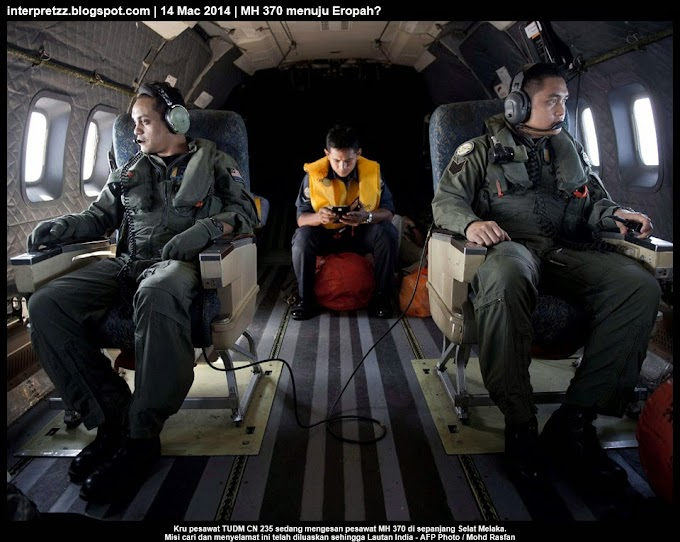 MH 370 sedang dalam perjalanan ke Eropah