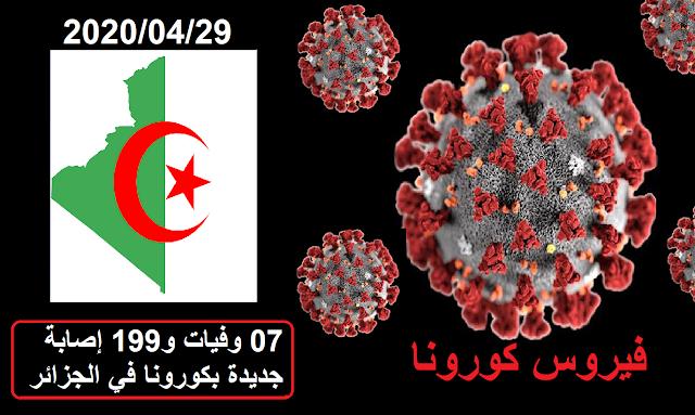 07 وفيات و199 إصابة جديدة بكورونا في الجزائر