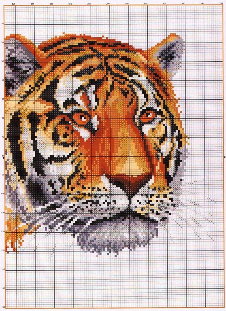 схемы тигров скачать бесплатно вышивки крестом
