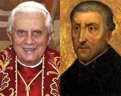Pope Benedict XVI and Saint Peter Canisius