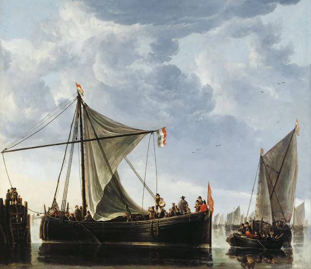 Альберт Кёйп - Лодки у пристани. 1650-е