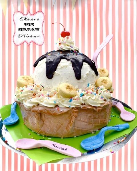 Cakes By Setia Ice Cream Sundae Cake