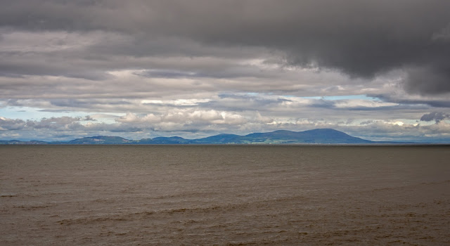 Photo of the Scottish hills across the Solway Firth from Maryport