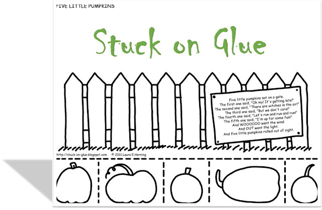 Printable color, cut and glue activity from Stuck on Glue