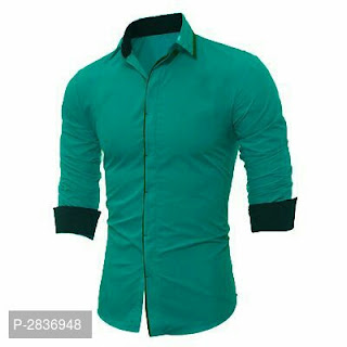 Solid Cotton Shirts For Men