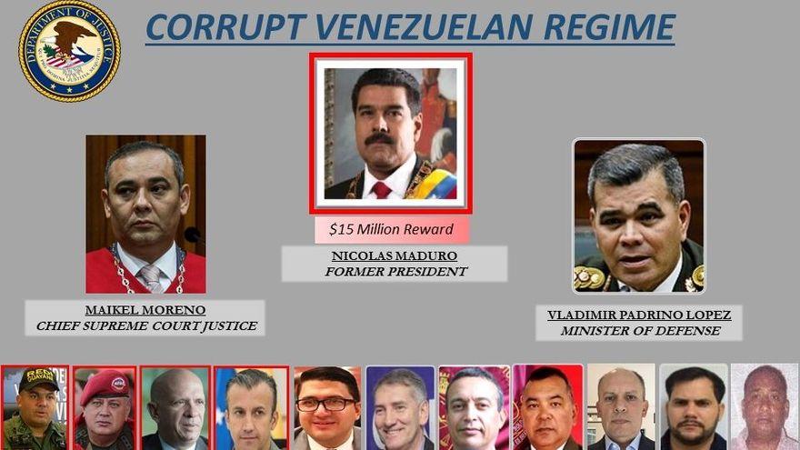 Maduro y 14 de sus funcionarios son investigados por probables nexos criminales / DEPARTAMENTO DE ESTADO EEUU