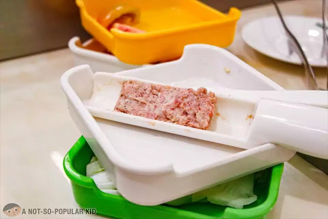 Fresh wrapper-less dumpling of Hosaku International Buffet