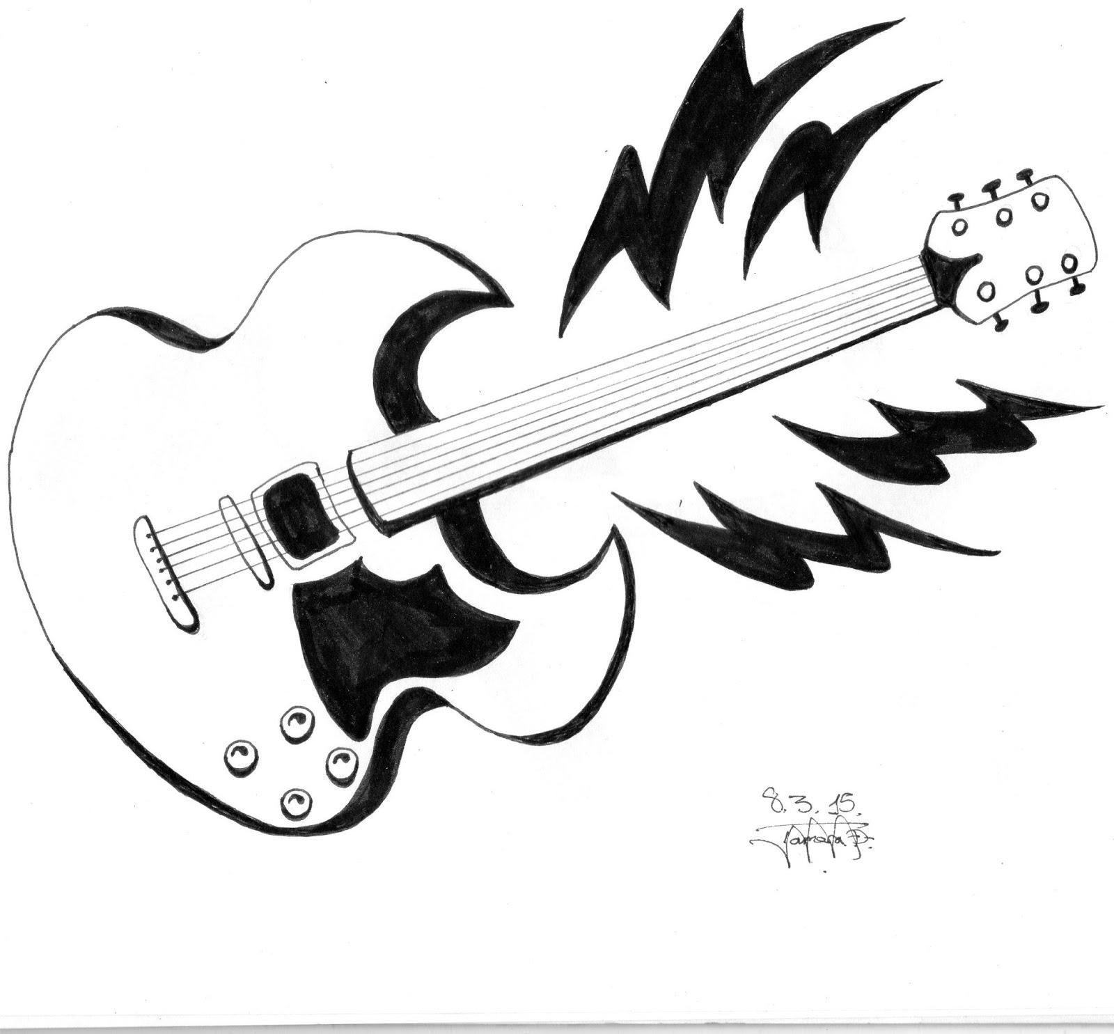Misdibujostm31 Guitarra Eléctrica