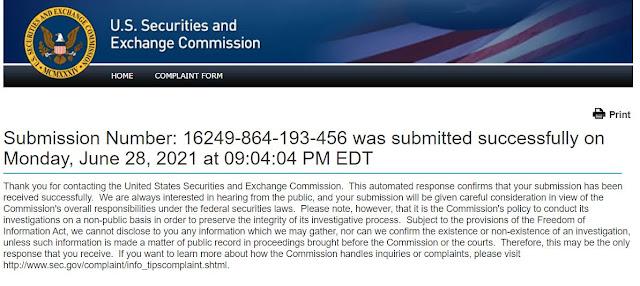 SEC complaint filed