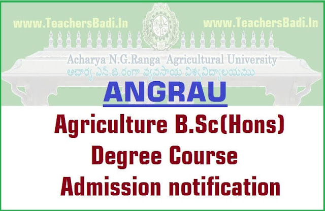 ANGRAU,Agriculture B.Sc(Hons) Home Science Course,Admissions 2018