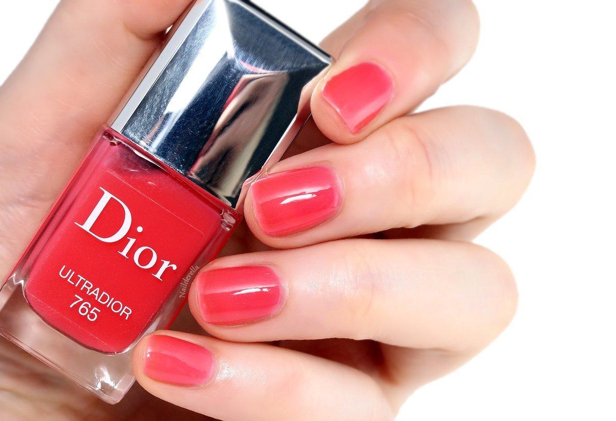 Dior Addict Ultra Gloss - ft. Cheek Nails - Nailderella
