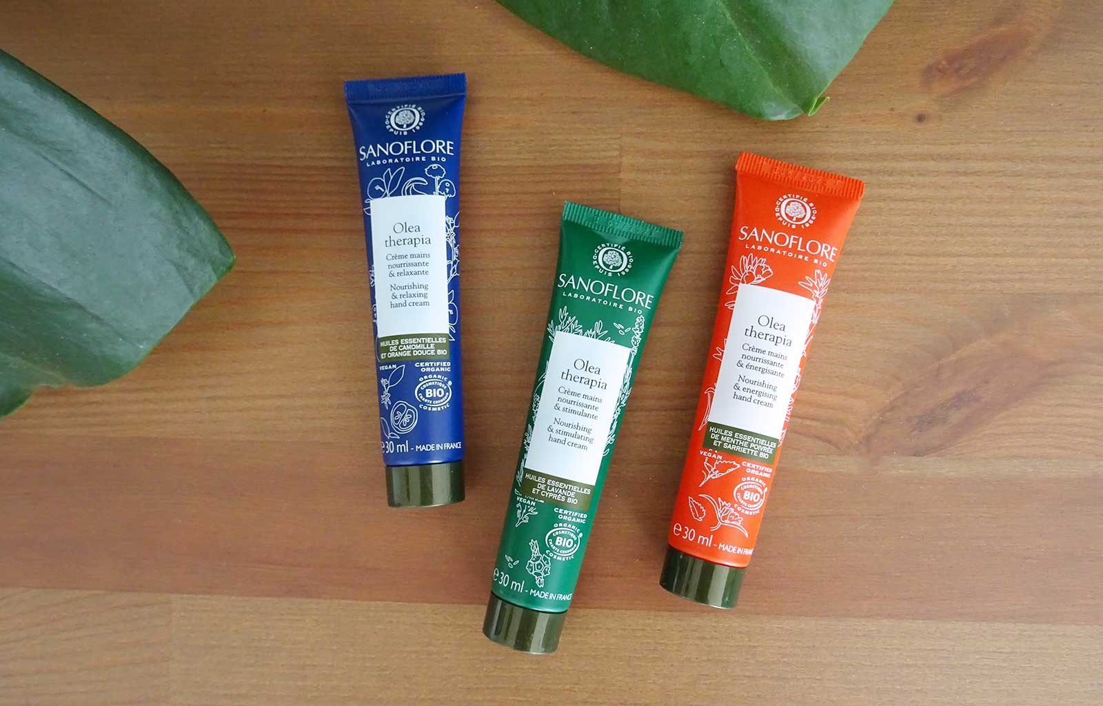 crèmes mains nourrissantes aromatiques Olea Therapia Sanoflore