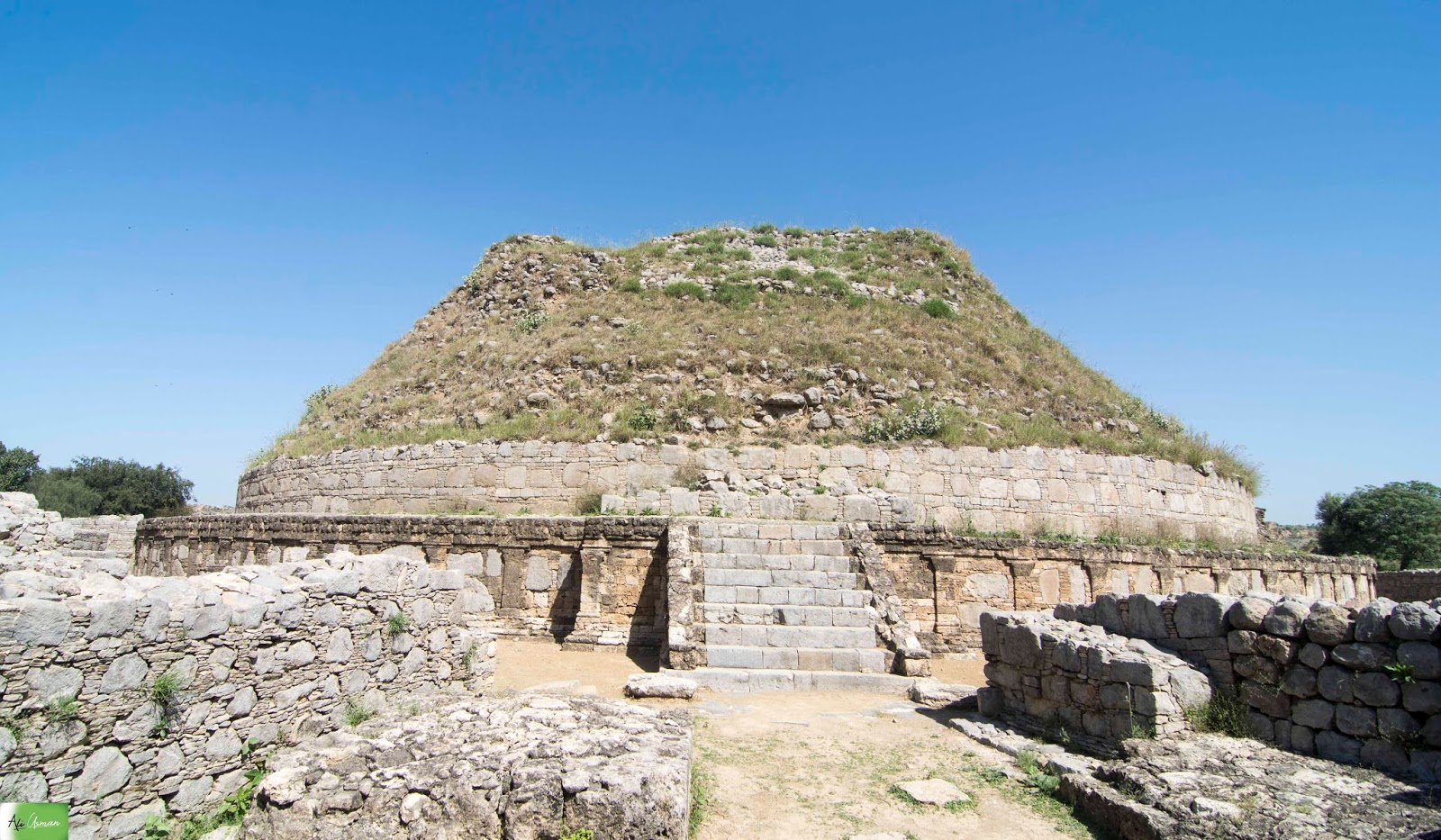 Ali Usman Baig : Dharmarajika Stupa Taxila