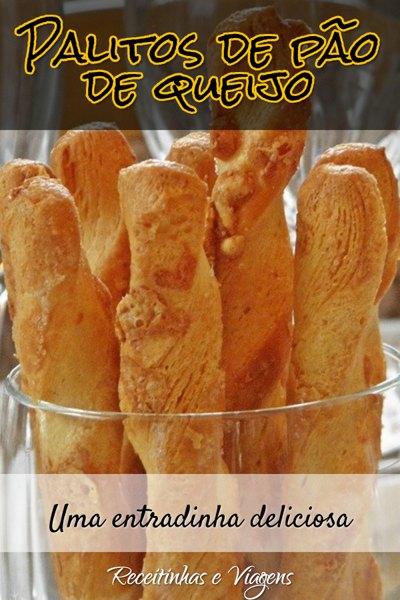 palitos de pão de queijo ou simplesmente palitos de queijo e polvilho