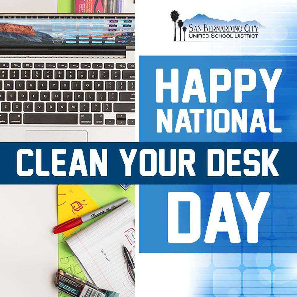 National Clean Your Desk Day Wishes For Facebook