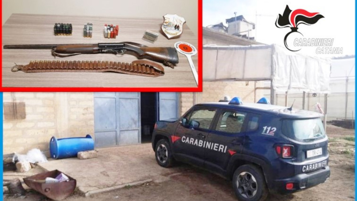 Fucile occultato Carabinieri Caltagirone