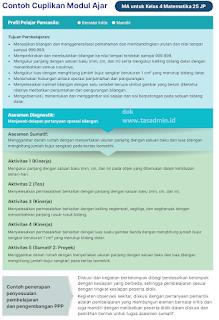 Contoh Modul Ajar MA Kelas 4