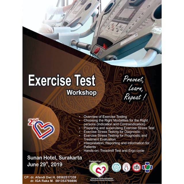 WORKSHOP EXCERCISE STRESS TEST, SOLO CARDIOVASCULAR FORUM 2019 (29-30 JUNI 2019)