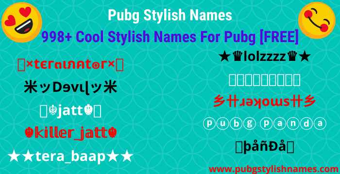 pubg stylish names