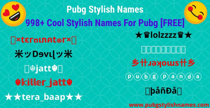 pubg stylish names